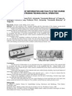 Stancioiu Abstarct Study on Degree of Deformation and Faults in the Course of Direct Extruding Technological Operation