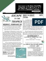 February 2007 Jayhawk Audubon Society Newsletter