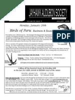January 2009 Jayhawk Audubon Society Newsletter