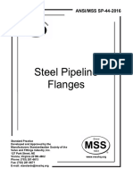 MSS SP-44-2016 Steel Pipeline Flanges
