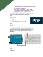Enviando Datos Al Arduino Desde El Monitor Serial