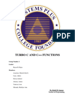 TURBO C AND C++