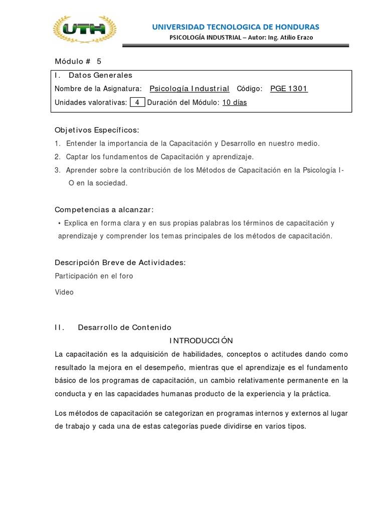 Modulo 5 Aprendizaje Modificación Del Comportamiento
