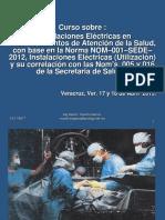 Instalaciones Eléctricas Hospitalarias Nom-001-Sede-2012 Veracruz
