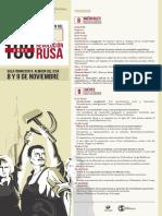 Programa de la Jornada de análisis y discusión del 150 aniversario de El Capital y primer centenario de la Revolución Rusa
