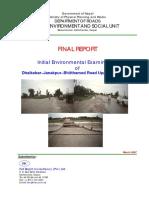 Final Report - Initial Environment Examination of Dhalkebar-Janakpur-Bhitthamod Road Upgrading Project.pdf