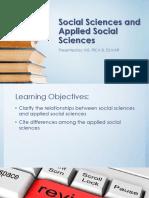 Social Sciences and Applied Social Sciences