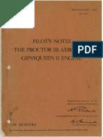 AP 1708C Proctor III Pilots Notes OCR