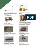 Alat Musik Tradisional Dari Setiap Provinsi Indonesia