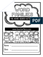 Word Search Word Families