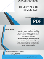 Equipo 1 Descripción y Características de Los Tipos de Comunidad