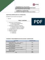 Carta Descriptiva DAIS 1a y 2a Clase