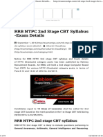 RRB NTPC 2nd Stage CBT Syllabus -Exam Details _ ExamOnTips