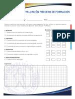 Evaluación Proceso Formación