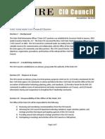 Cio Council Charter
