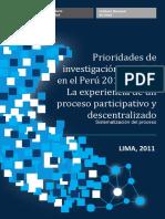prioridades en investigación en salud en el perú