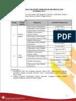 Jadwal Pendaftaran 2017 Versi Revisi
