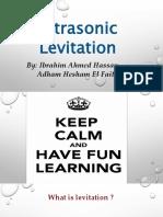 Ultrasonic Levitation Application