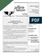 March 2002 Prairie Falcon Northern Flint Hills Audubon Society