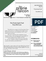 May 2002 Prairie Falcon Northern Flint Hills Audubon Society