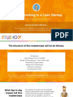 StudioX-Design Thinking in a Lean Startup