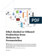 Ethyl Alcohol or Ethanol Production From Molasses by Fermentation