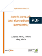 Automotive Antennas Vehicle Influence Aspects Numerical Modeling