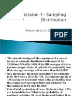 Session 1- Sampling Distribution