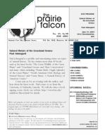 June 2003 Prairie Falcon Northern Flint Hills Audubon Society