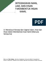 Mengintegrasikan Iman, Islam, Dan Ihsan