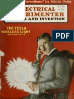 Electrical Experimenter - Nikola Tesla 1919 - 02