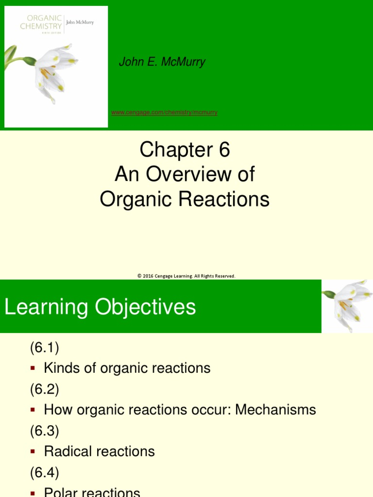 6  An Overview of Organic Reactions pptx | Chemical