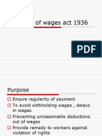 Payment of Wages