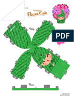 Papercraft Terralings Flower Cups Dewmuffins