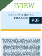 Prepositional Phrase Infinitives Aand Noun Phrase