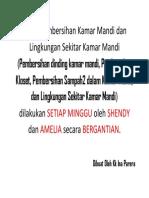 Tugas Pembersihan Kamar Mandi dan Lingkungan Sekitar Kamar Mandi.docx