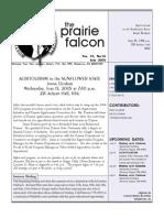 June 2005 Prairie Falcon Northern Flint Hills Audubon Society