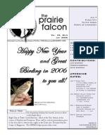 January 2006 Prairie Falcon Northern Flint Hills Audubon Society