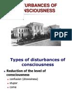 Disturbances of Consciesness
