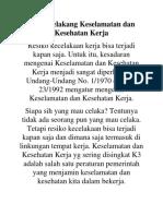 Kesehatan Kerja Di Indonesia Pertanyaan Mengenai Keselamatan