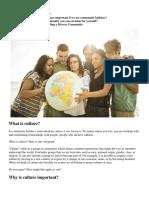 1. Understanding Culture and Diversity in Building Communities