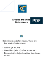 Articles & Determiners