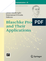 Javad Mashreghi; Emmanuel Fricain Eds. Blaschke Products and Their Applications