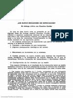 ¿Un Nuevo Mecanismo de Especiación? El Diálogo Crítico Con Faustino Cordón, 1983.
