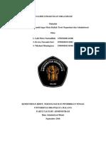 ANALISIS LINGKUNGAN ORGANISASI - Teori Organisasi dan Administrasi