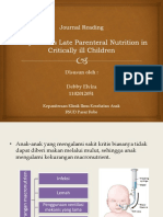 JOURNAL READING PARENTERAL NUTRITION IN CRITICALLY ILL CHILDREN