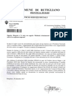 Risposta Assessore Tagarelli su progetto SPRAR