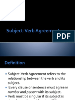 Subject-Verb Agreement - Plus