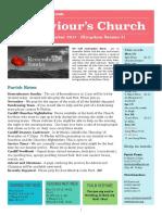 st saviours newsletter - 12 nov 2017