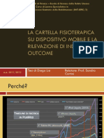 Cartella clinica fisioterapica su supporto mobile